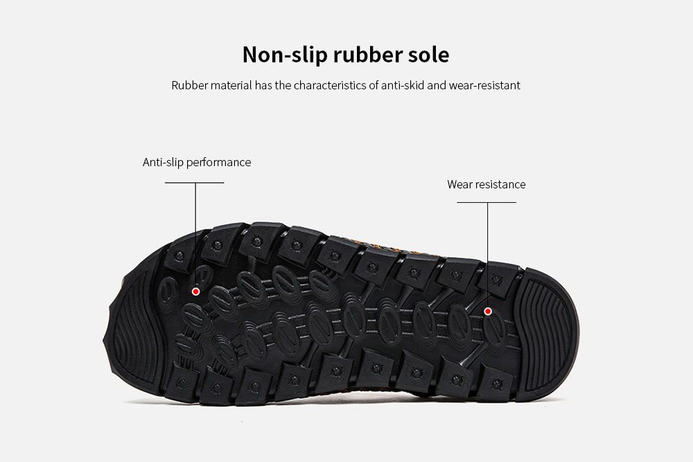 IZZUMI Men Sandals Summer Outdoor Casual Round Toe Slippers Non-slip rubber sole