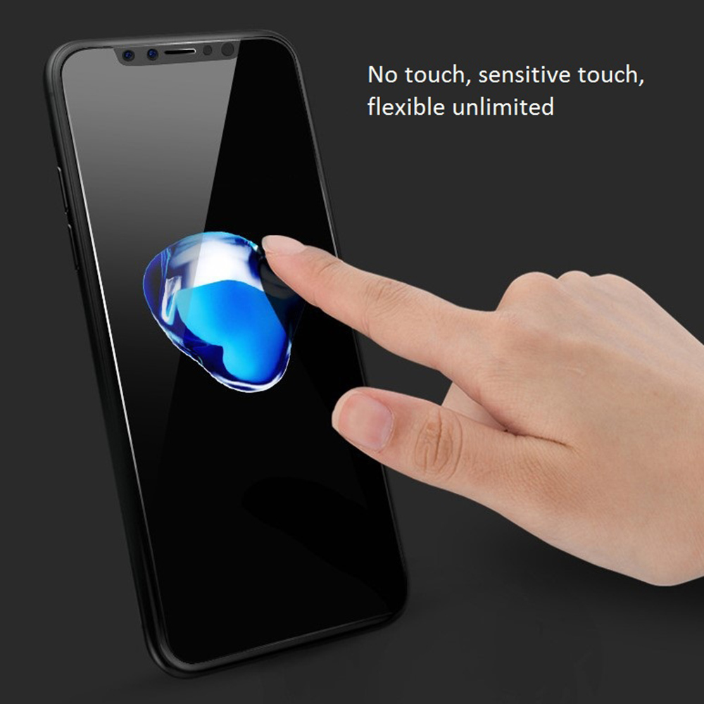 KINSTON 5D 9H Silk Nano Tempered Glass Screen Protector Film for iPhone 11 / XR - White