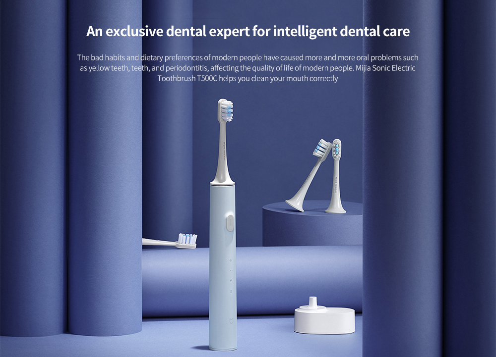 mijia T500C Sonic Electric Toothbrush - Light Blue