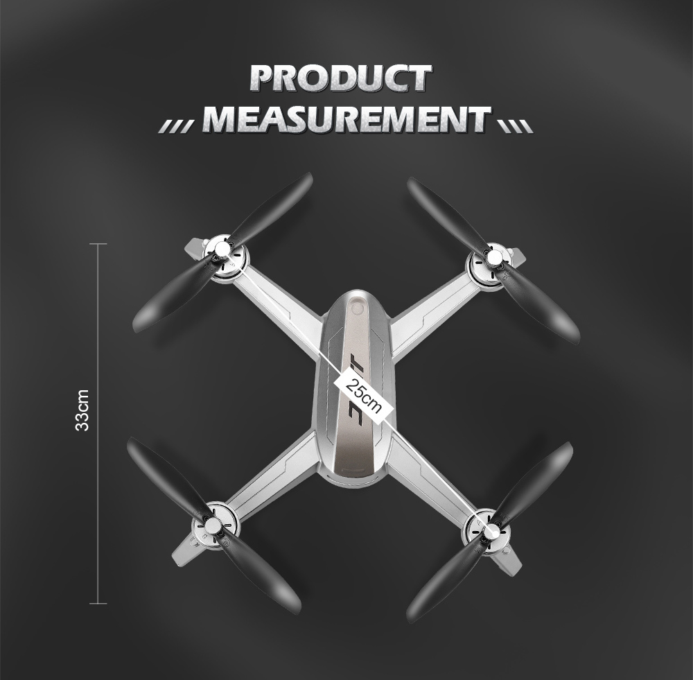 JJRC X5 EPIK 5G Wi-Fi FPV RC Drone GPS Positioning Altitude Hold 2K HD Camera Point of Interesting Follow Brushless Motor - Black 1 Battery with Color Box