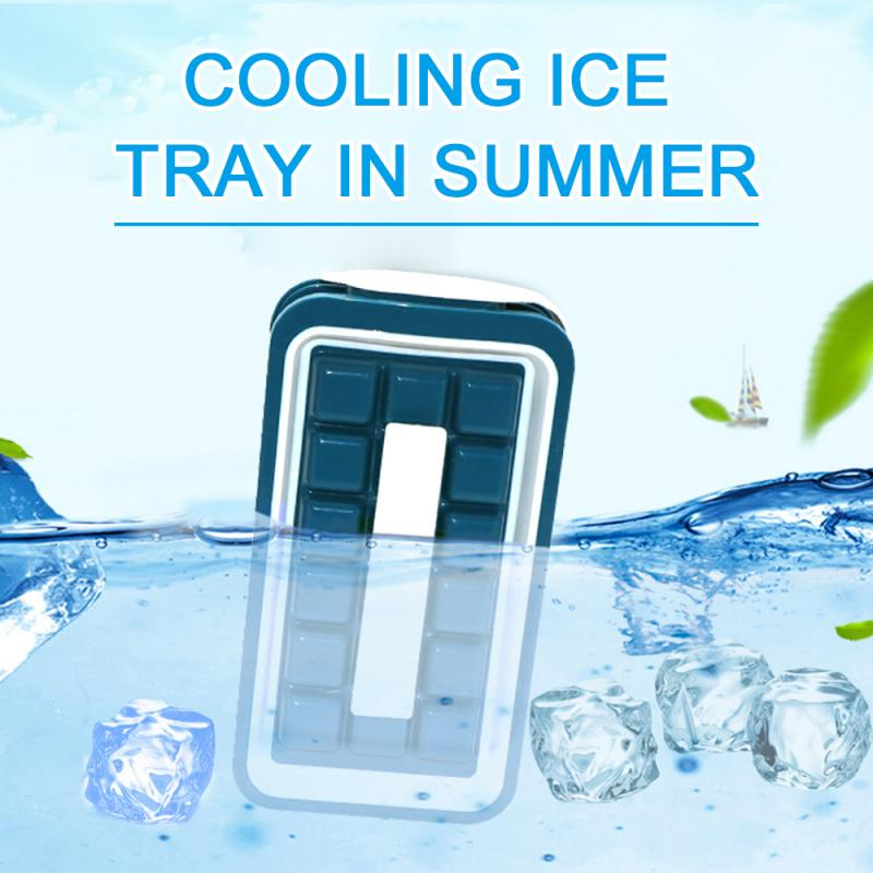 Outdoor Portable Cooling Ice Mold Ice Box Creative DIY Fridge Frozen Ice Mold - Blue