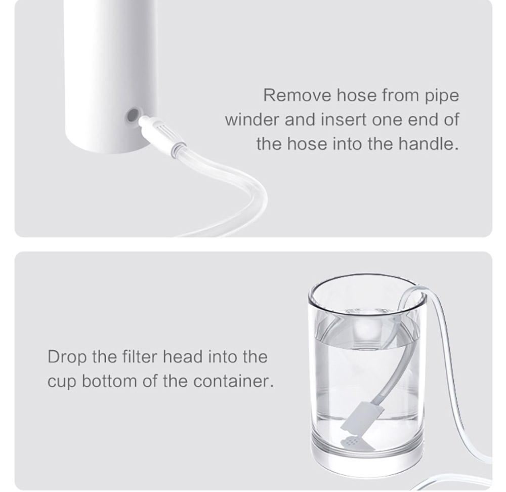 Xiaomi Youpin YMYM-YF2 DR. BEI Portable No-tank Water Flosser Waterproof Teeth Cleaner - White