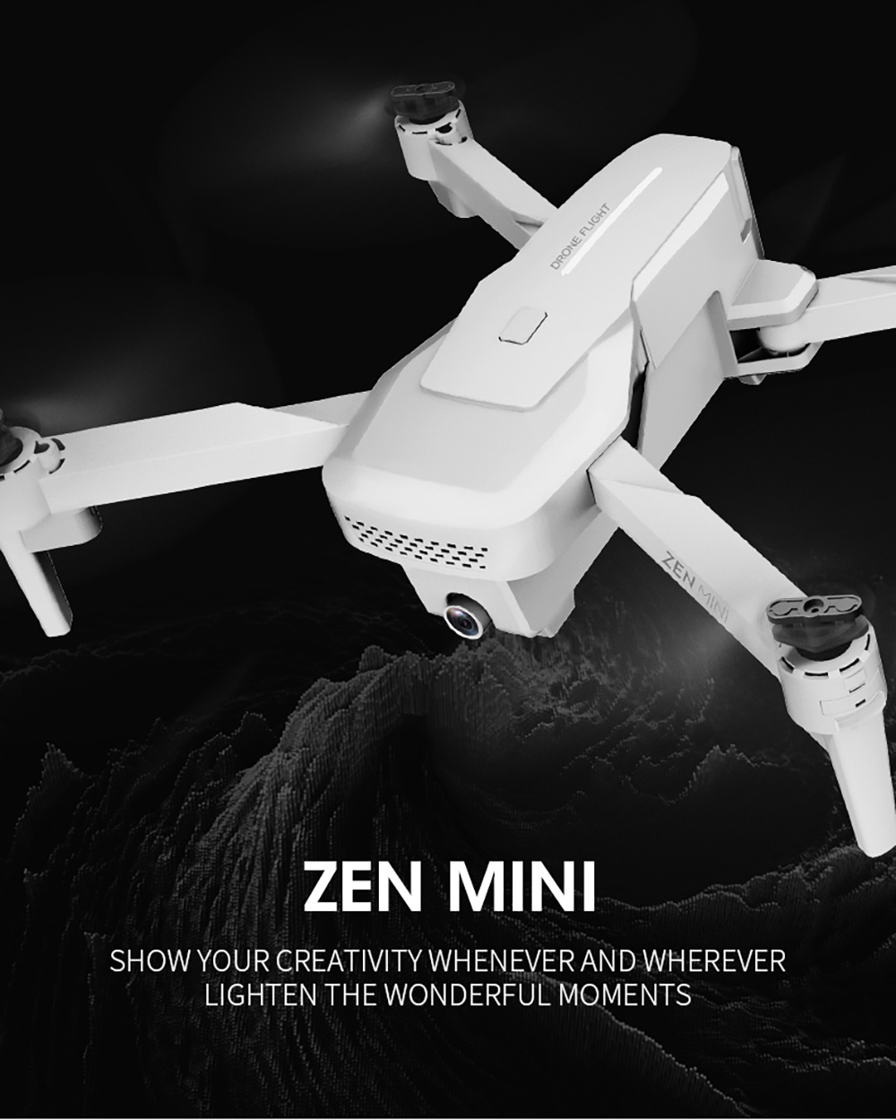 VISUO XS818 ZEN Mini GPS 5G WIFI FPV with 4K HD Electronic Anti-shake Camera Optical Flow Positioning RC Drone Quadcopter RTF - Gray 1 Battery with Color Box
