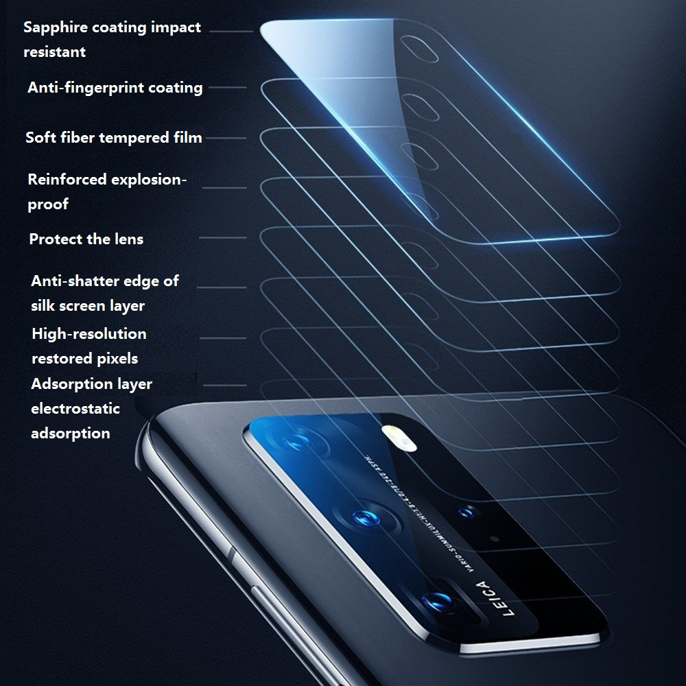 KINSTON 5D Camera Lens Tempered Glass Screen Protector Film for Huawei P40 Pro - Transparent