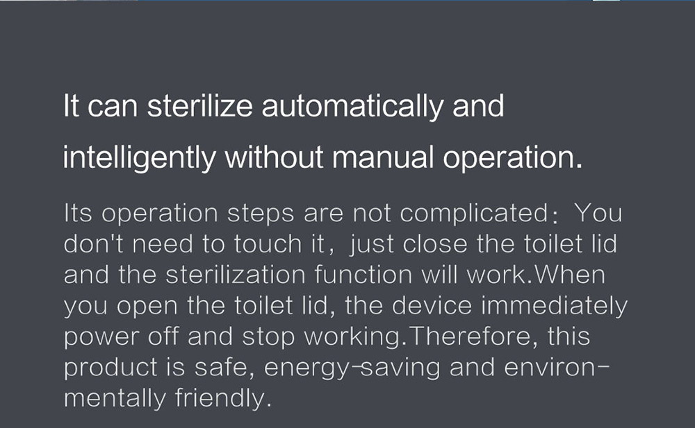 Xiaoda Smart Ultraviolet Disinfection and Sterilization Deodorizer It can sterilize automatically and intelligently without manual operation