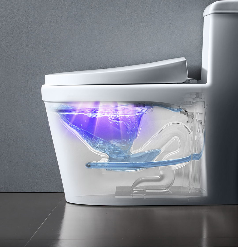 Xiaoda Smart Ultraviolet Disinfection and Sterilization Deodorizer Ozone can efficiently remove odors from toilets