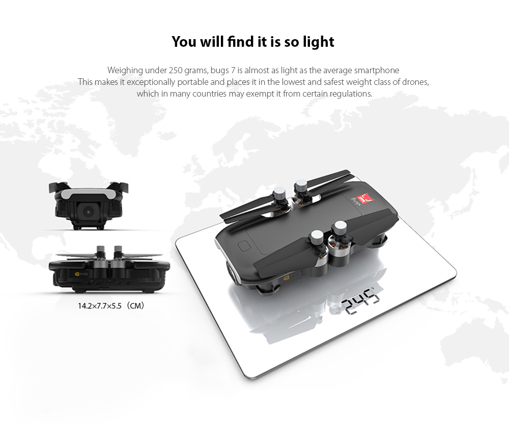 MJX B7 GPS 4K 5G WiFi Camera Foldable RC Quadcopter RTF You will find it is so light