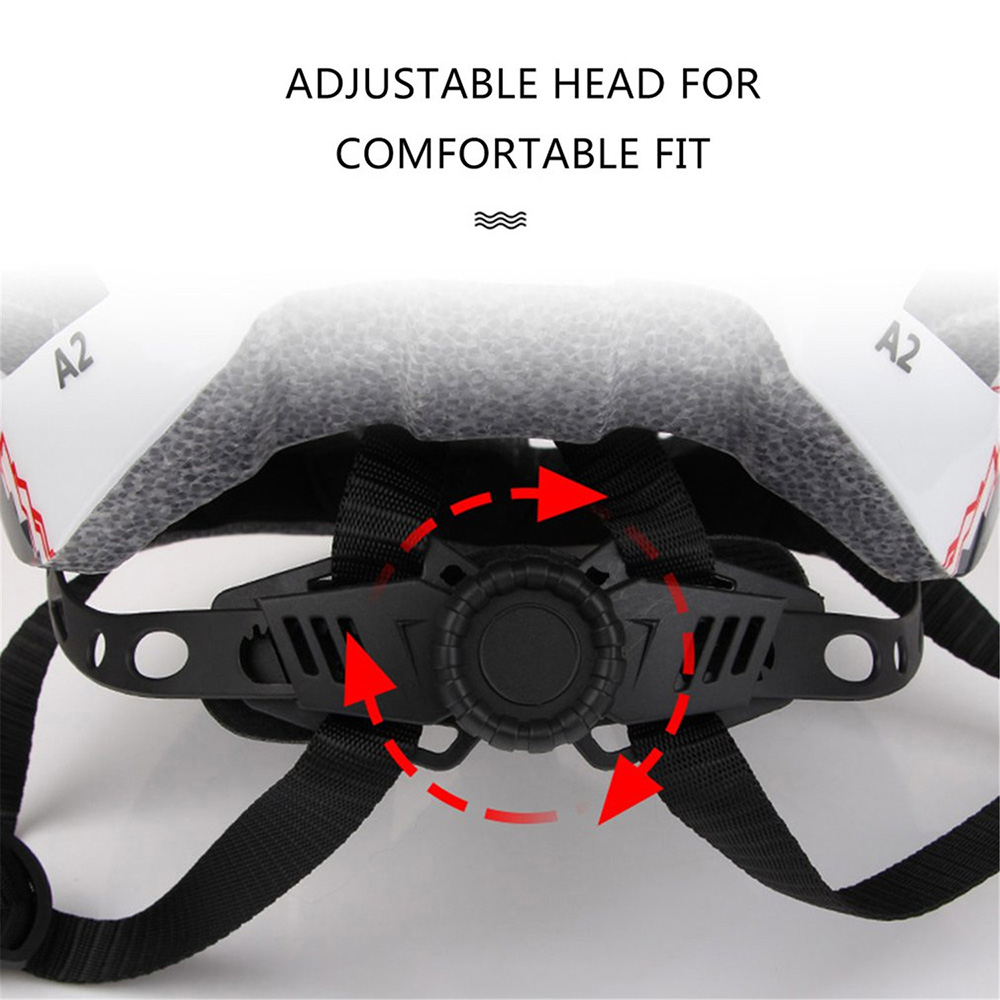 GUB A2 Mountain Road Vehicle Integrally Molded Helmet Bicycle Helmet with USB Charging Taillights - Black