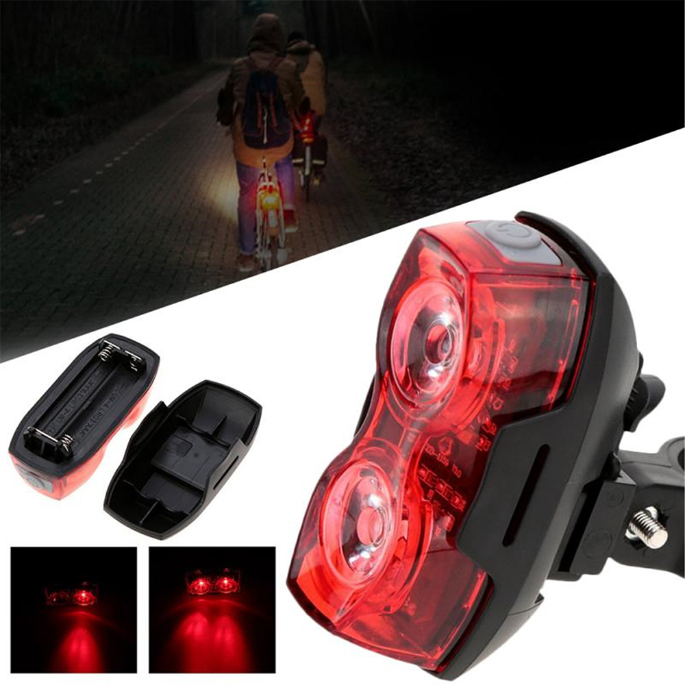 RPL- 2230 Bright Bicycle Taillight Taillight Light 2LED Bike Rear Safety Warning Light - Red