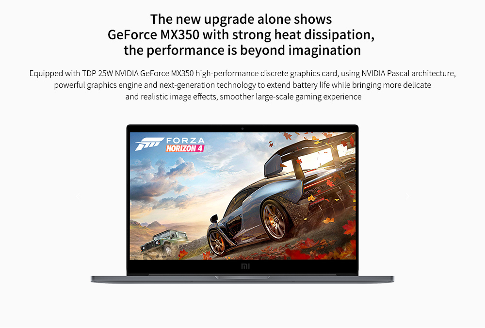 Xiaomi Mi Notebook Pro 15 The new upgrade alone shows GeForce MX350 with strong heat dissipation,  the performance is beyond imagination