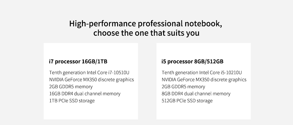 Xiaomi Mi Notebook Pro 15 High-performance professional notebook choose the one that suits you