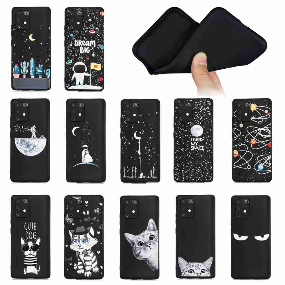 Frosted Painted TPU Phone Case for for Samsung Galaxy M80S / A91 / S10 Lite - Multi-K
