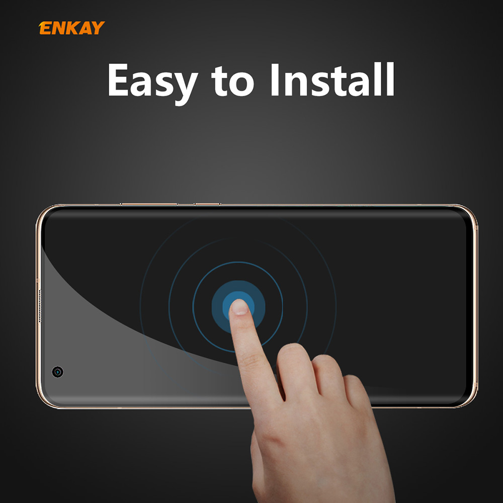 ENKAY 0.26mm 9H 3D Curved Full Screen Anti-Peep Screen Protector for Xiaomi Mi 10 / 10 Pro - Black