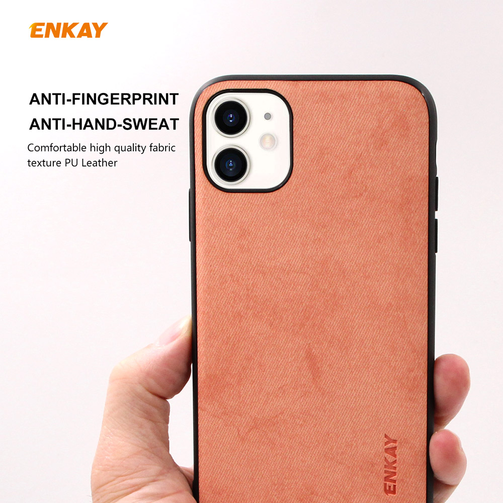 ENKAY ENK-PC028 Business Series TPU+PU Anti-fall Phone Cover Case for iPhone 11 - Orange