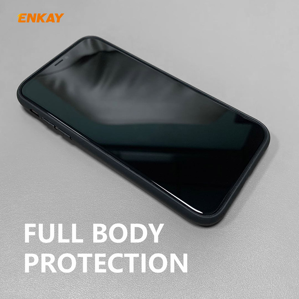 ENKAY ENK-PC030 Business Series TPU+PU drop-proof Phone Cover Case for iPhone 11 Pro Max - Black