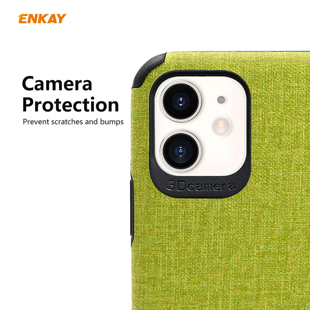 ENKAY ENK-PC031 Business Series TPU+PU Anti-fall Phone Cover Case for iPhone 11 - Brown