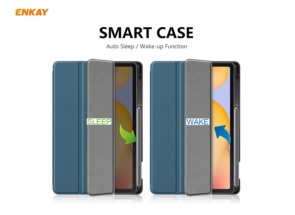 ENKAY ENK-8003 Tablet Protection Cover with Pen Slot Holder for Samsung Galaxy Tab S6 Lite 10.4 P610 / P615 - Gray