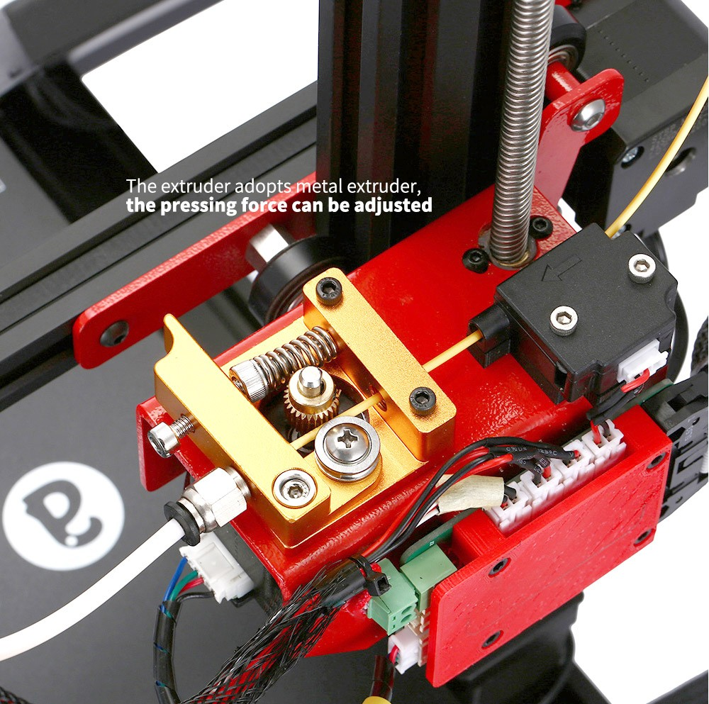 Alfawise U30S 3.5-inch Color Screen 3D Printer The extruder adopts metal extruder