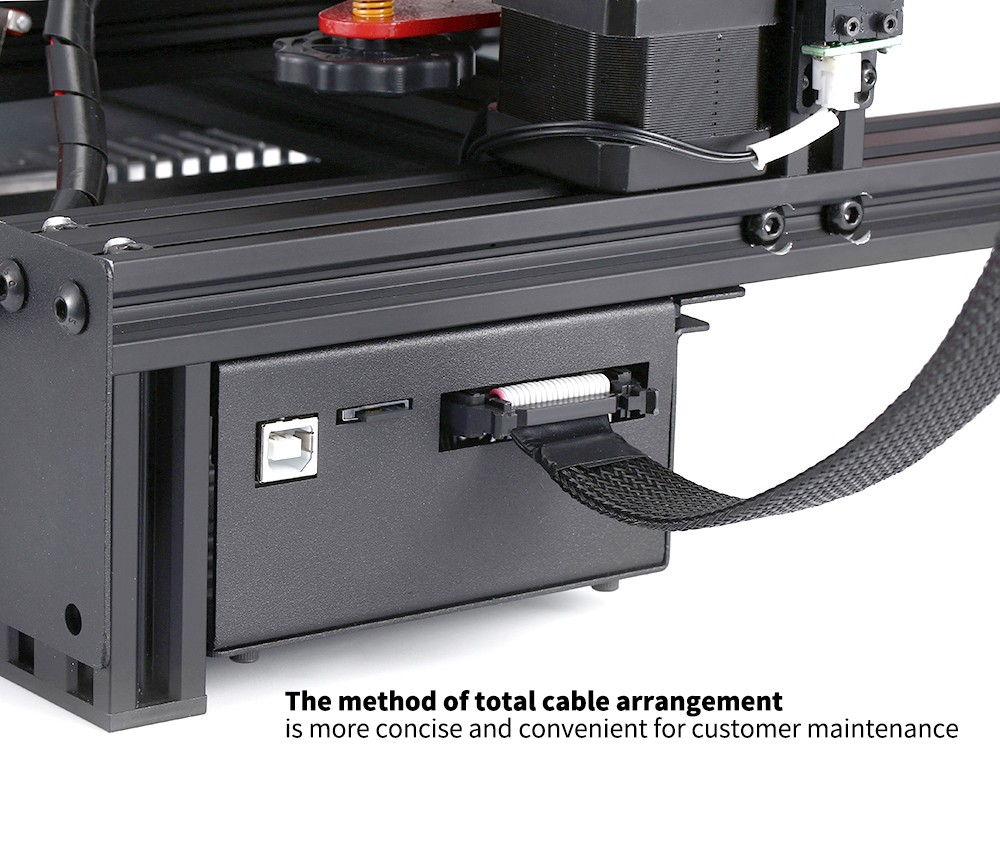 Alfawise U30S 3.5-inch Color Screen 3D Printer The method of total cable arrangement