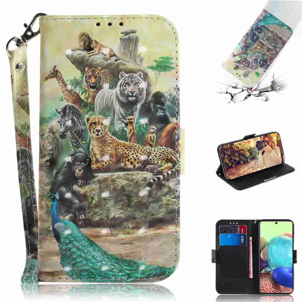 Multi-Pattern 3D Painted Phone Case for Samsung Galaxy A71 5G - Multi-A