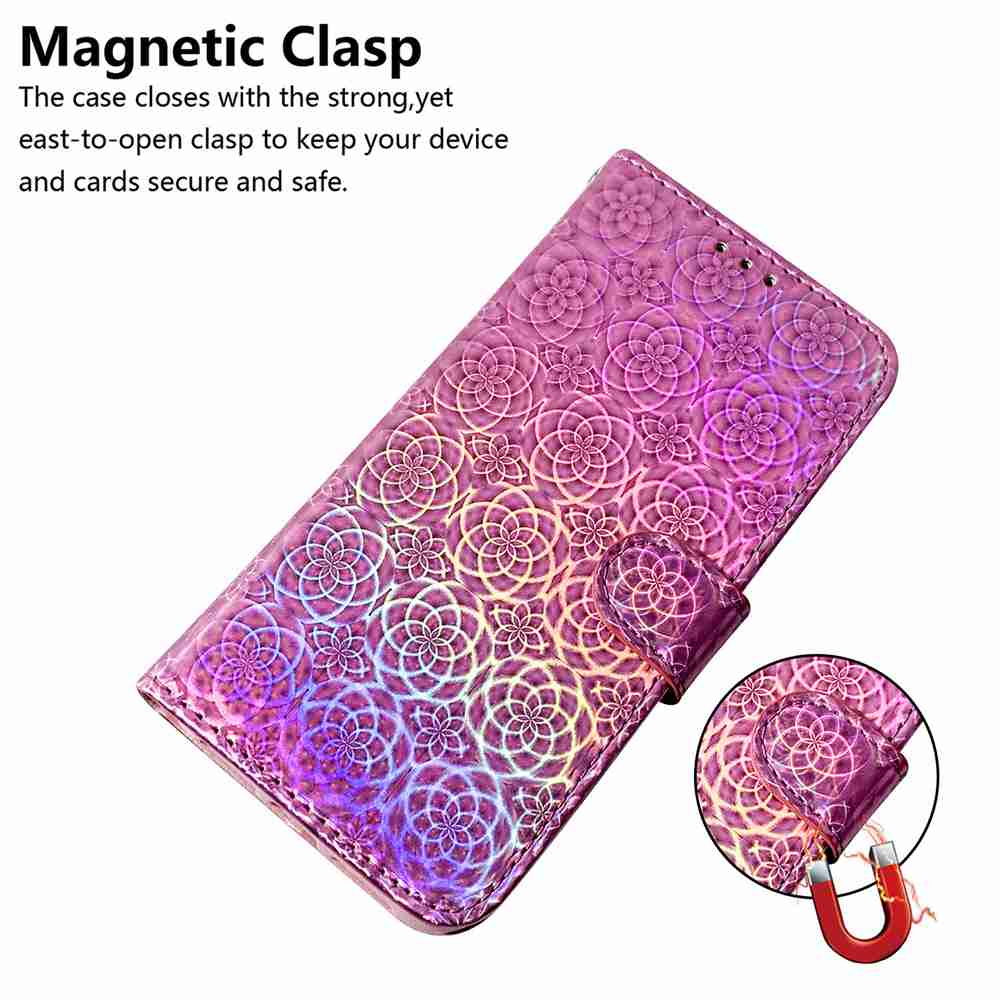 Solid Color Dazzling Phone Case for Xiaomi Redmi 9 - Pink