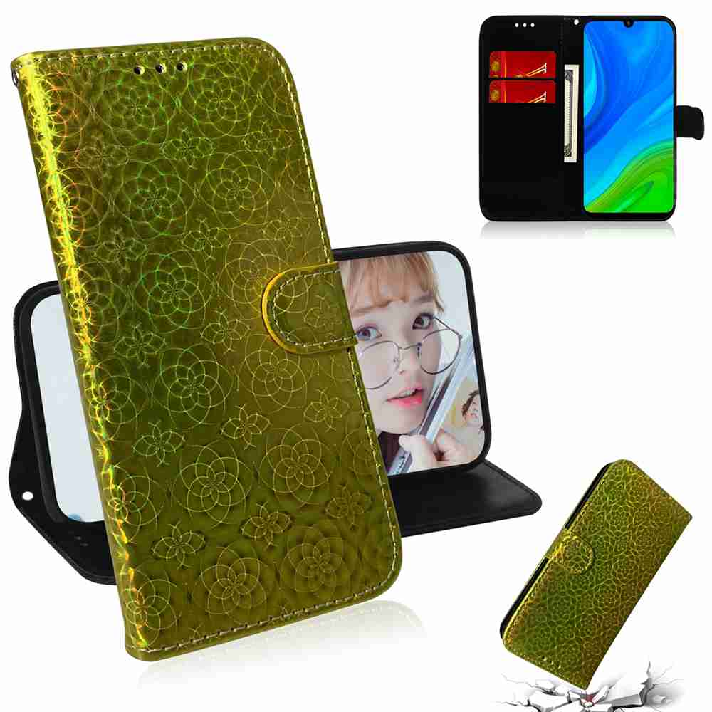 Solid Color Dazzling Phone Case for Huawei P Smart 2020 - Golden brown