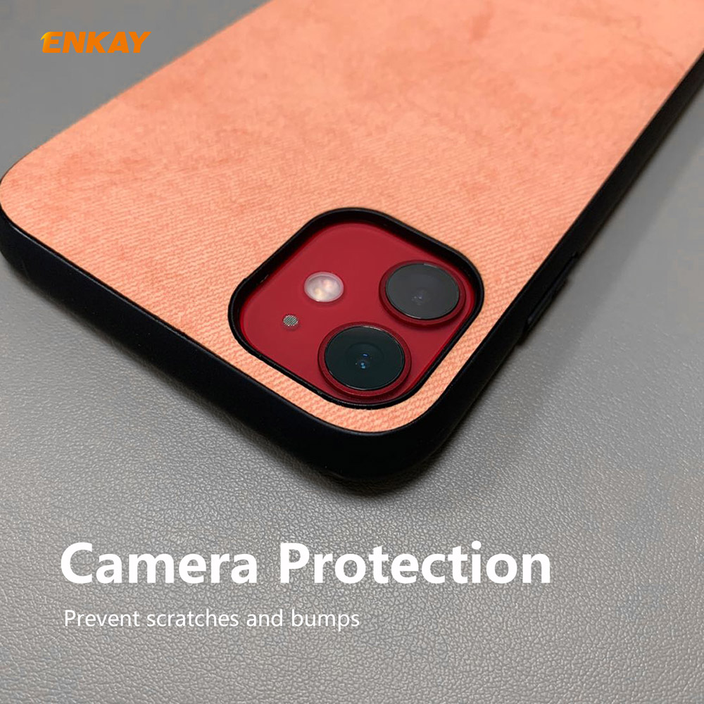 ENKAY ENK-PC0282 Business Series TPU + PU Anti-fall Phone Cover Case + 0.26MM 9H 2.5D Curved Edge Tempered Glass Protection Film for iPhone 11 - Gray
