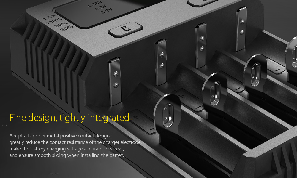 NITECORE NEW I4 Intellicharger Smart Battery Charger Case Fine design, tightly integrated