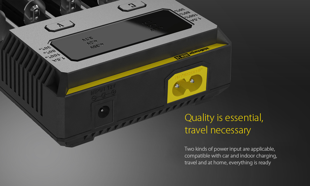 NITECORE NEW I4 Intellicharger Smart Battery Charger Case Quality is essential, travel necessary