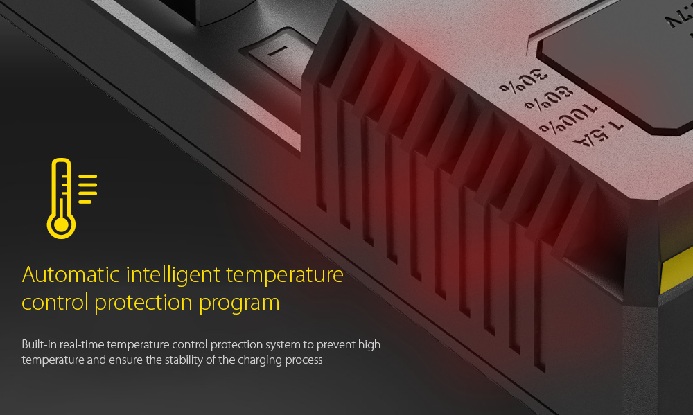 NITECORE NEW I4 Intellicharger Smart Battery Charger Case Automatic intelligent temperature control protection program