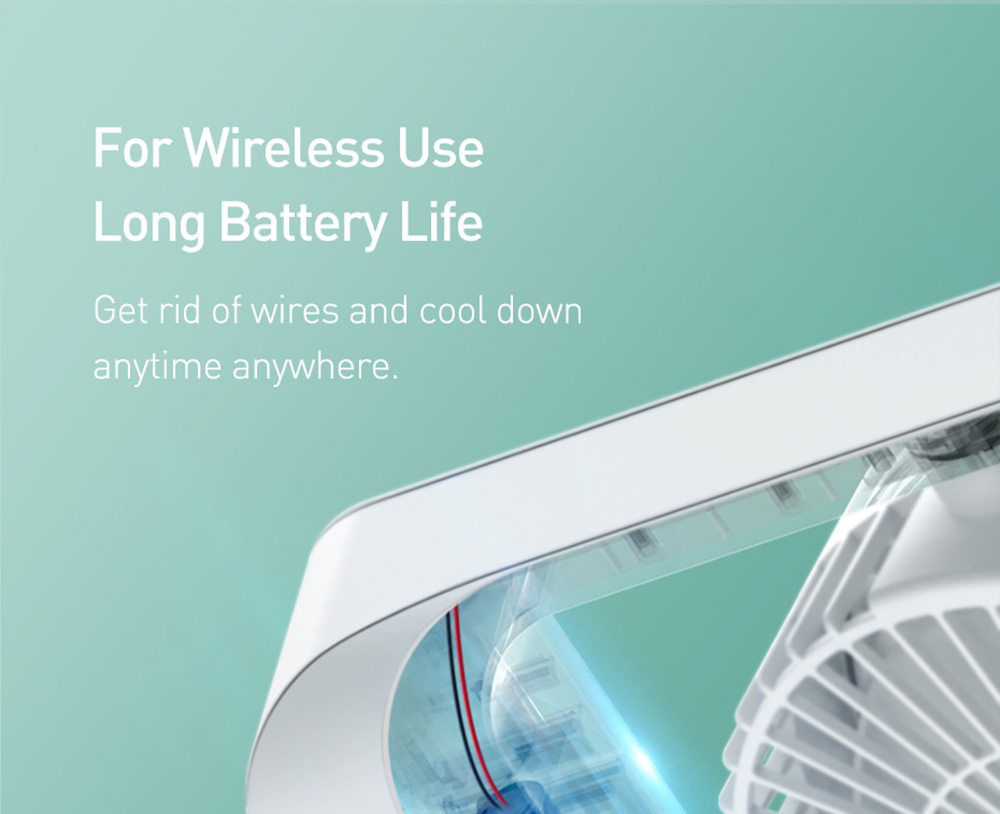 Baseus CXMF-02 Desktop Fan For Wireless Use, Long Battery Life