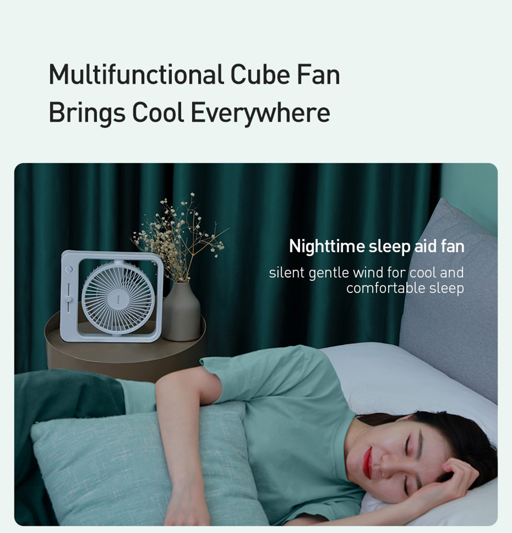 Baseus CXMF-02 Desktop Fan Multifunctional Cube Fan Brings Cool Everywhere