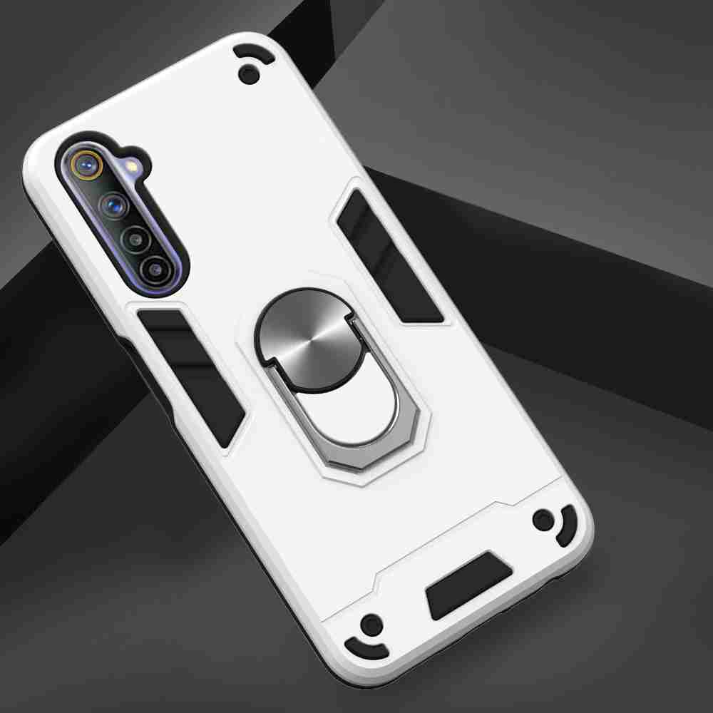 Two-In-One-Warframe Phone Case for Moto Oppo Realme 6 - Red Wine