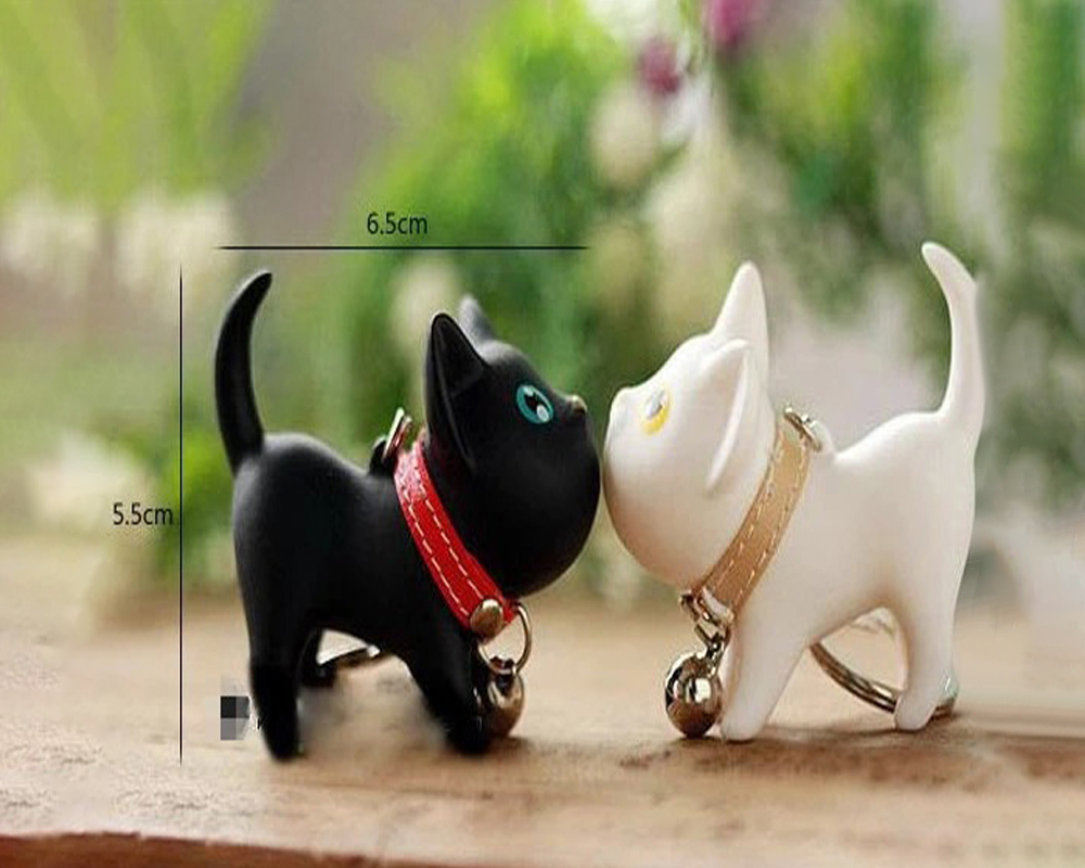 Cute Kitty Doll Keychain Cartoon Car Key Chain - Multi-A