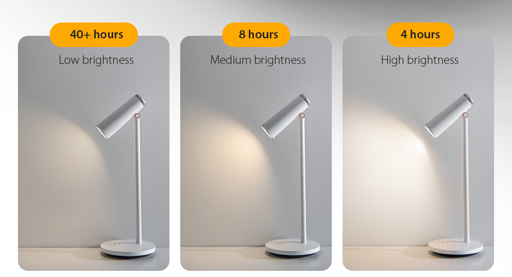 Baseus DGIWK-A02 i-wok Series Charge Office Reading Desk Lamp 40  hours of strong battery life 1800mAh large battery