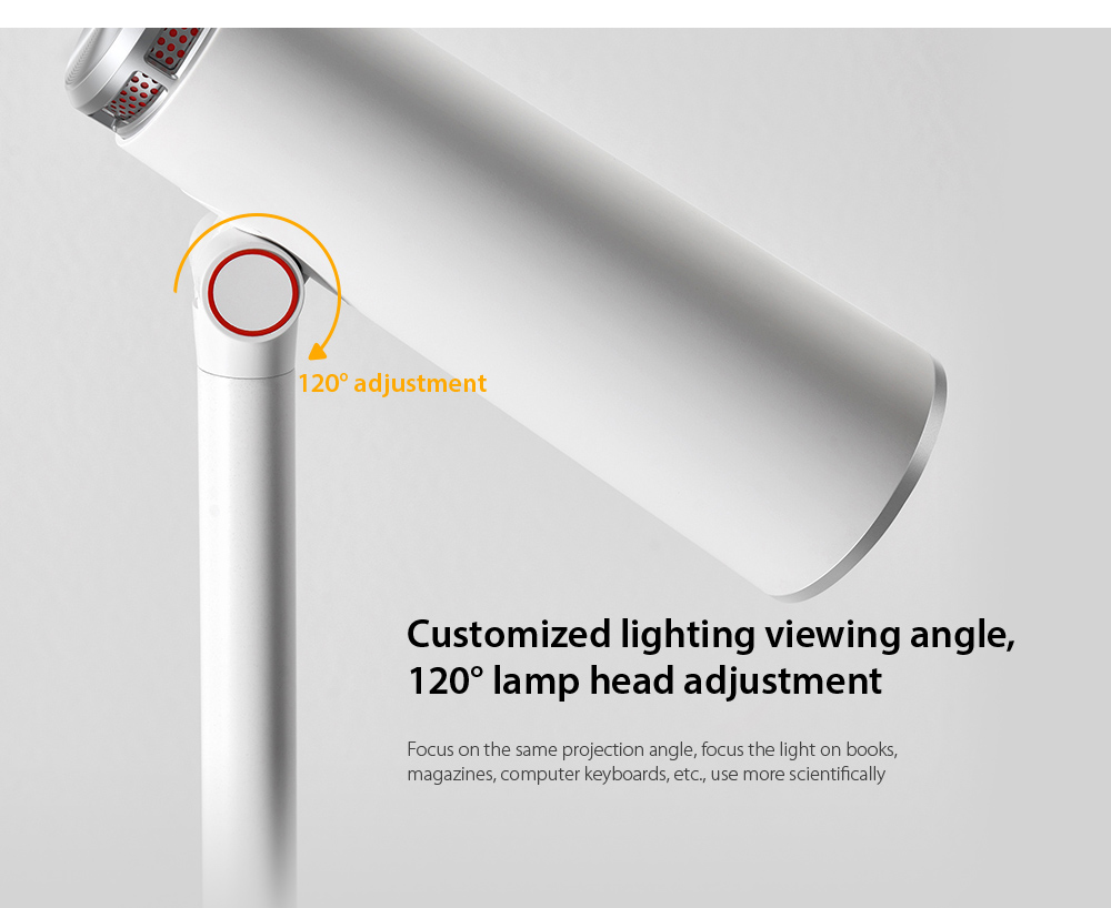 Baseus DGIWK-A02 i-wok Series Charge Office Reading Desk Lamp Customized lighting viewing angle, 120° lamp head adjustment