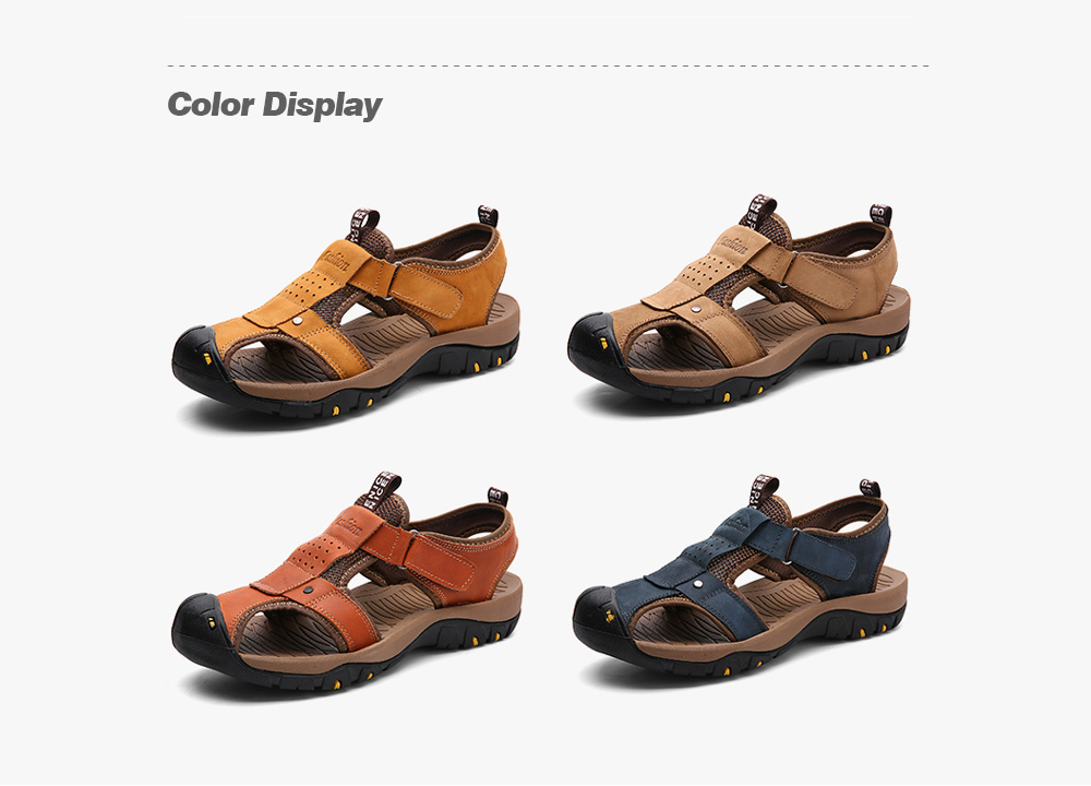AILADUN Men Sandals Summer Outdoor Leisure Shoes color display