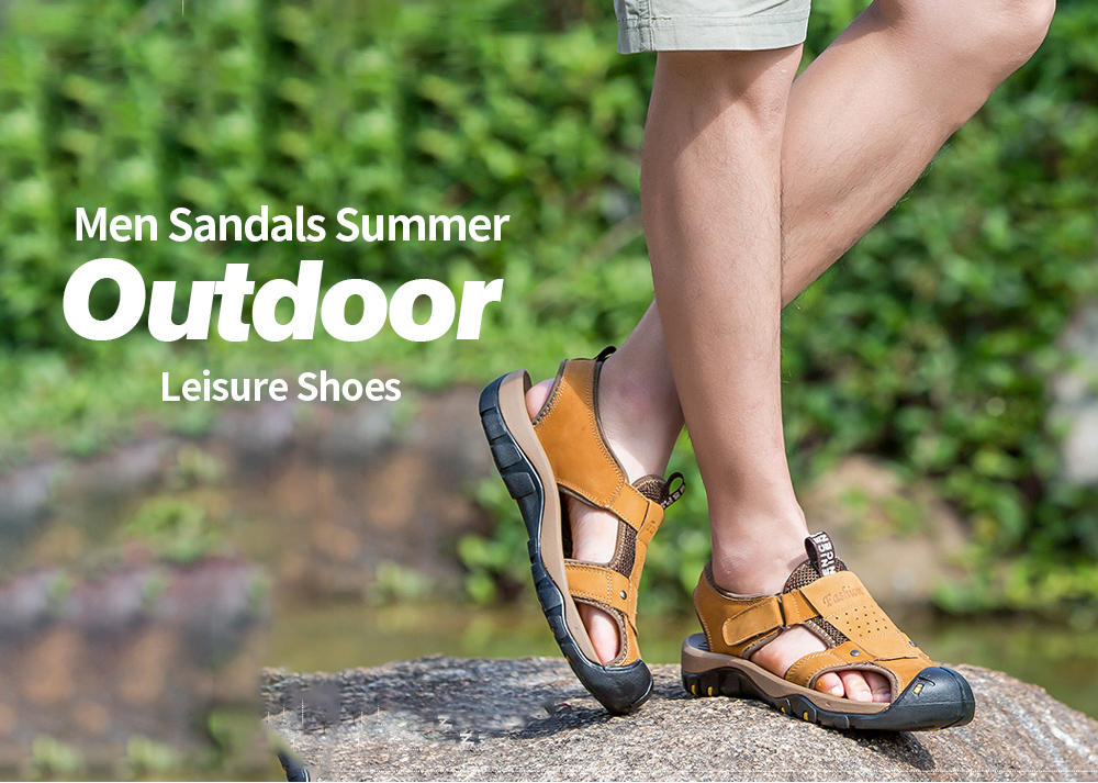 AILADUN Men Sandals Summer Outdoor Leisure Shoes