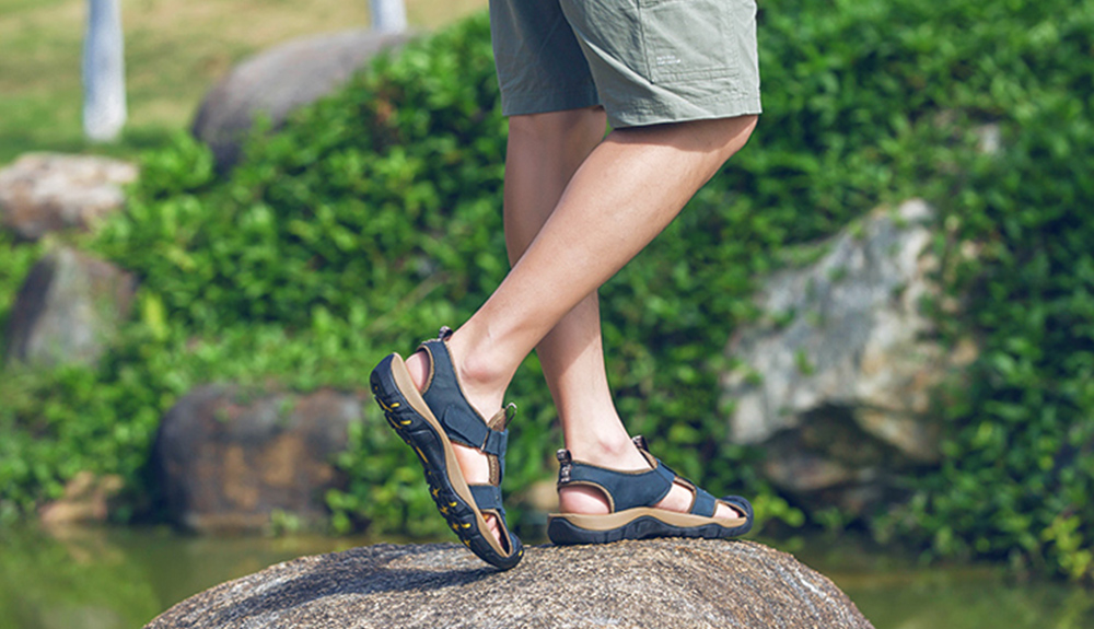 AILADUN Men Sandals Summer Outdoor Leisure Shoes show