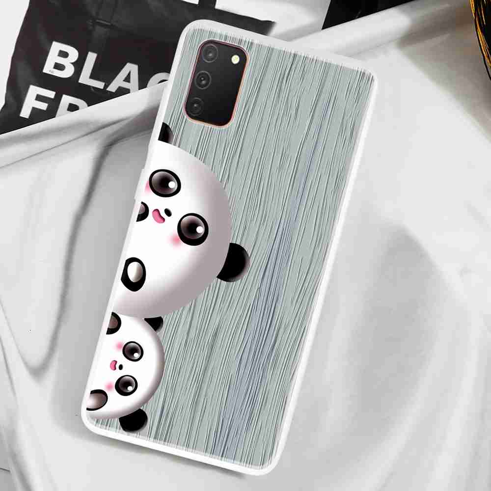 TPU Translucent Wood Grain Panda Phone Case for Samsung Galaxy  A31 - Multi-E