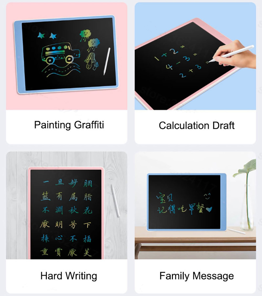 XIAOXUN XPHB003 Color LCD Blackboard Tablet 16 inch Children Electronics Computer Drawing Graphics Board - Blue