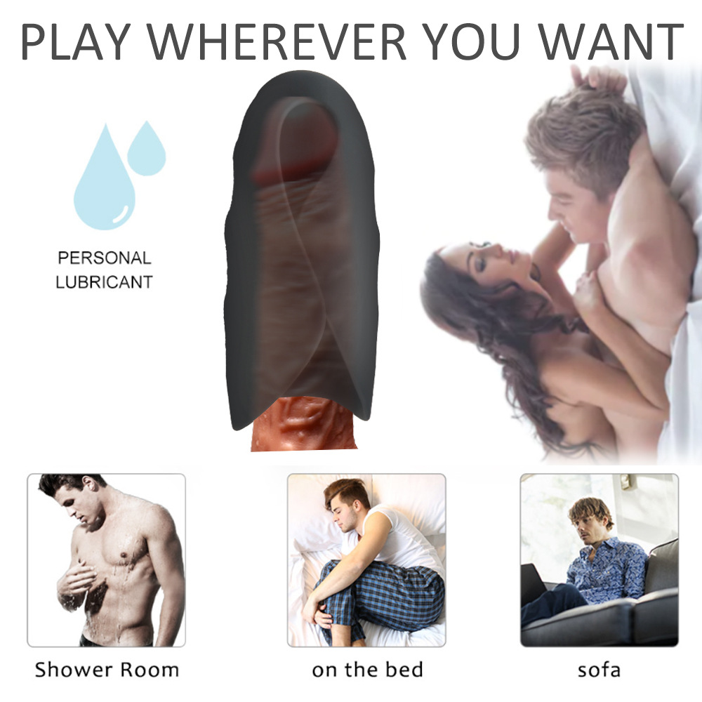 Aircraft Cup Vibrator Sex Trainer Toys for Men 10 Frequency Vibration Male Masturbator Delay Ejaculation Stimulate Vibrating Massager Pussy - Black
