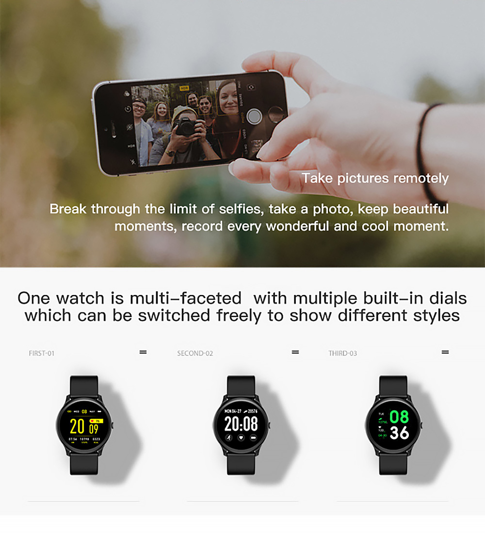 REMAX RL-EP09 Smart Watch Take pictures remotely