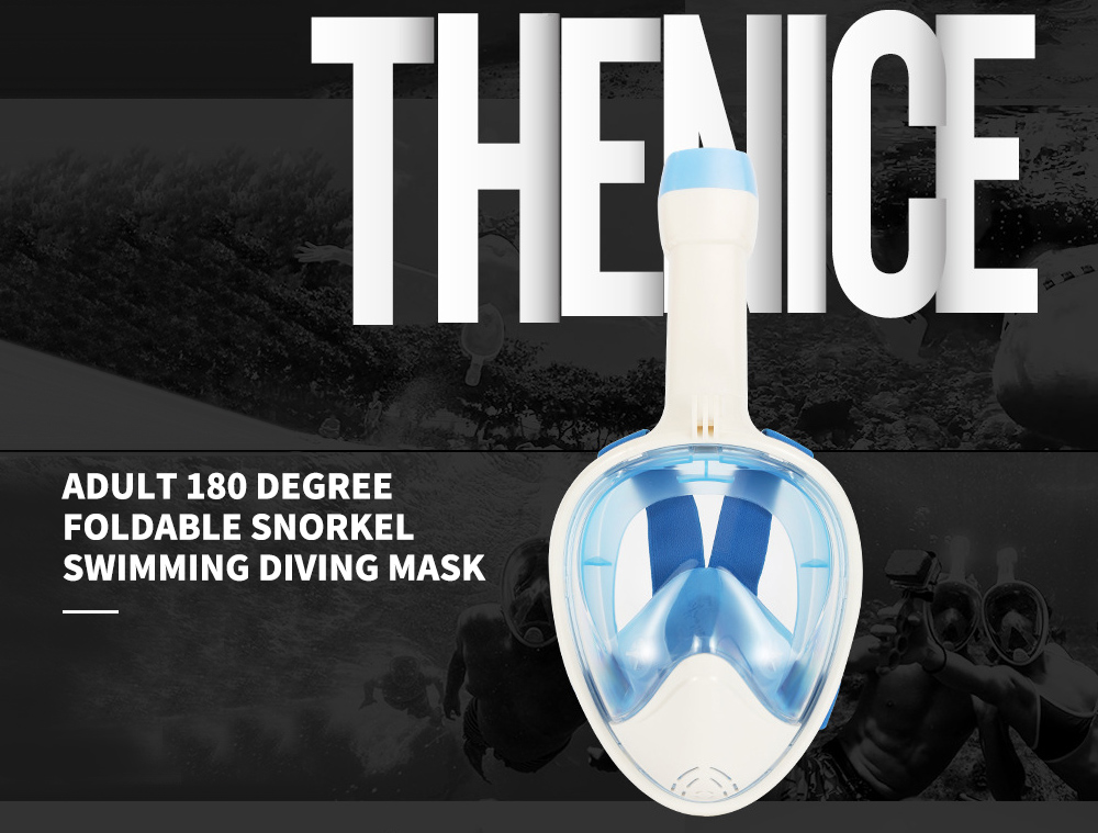 Adult 180 Degree Full Face Foldable Snorkel Swimming Diving Mask