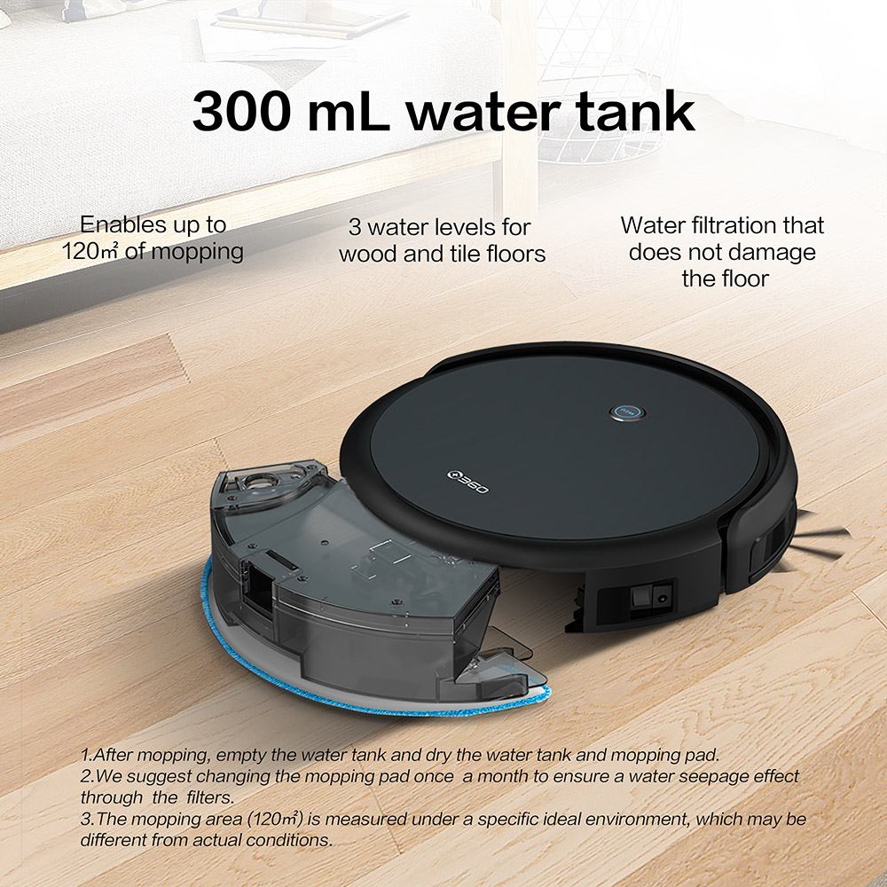 360 C50 Smart Vacuum Robot Cleaner - Black