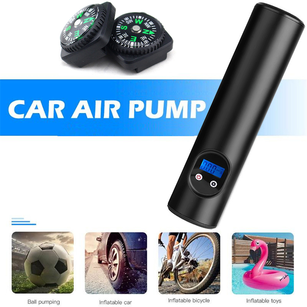 12V Portable Car Air Pump 15 Cylinder Smart Electric Emergency Tire Repair Vehicle Inflatable Pumps - Silver