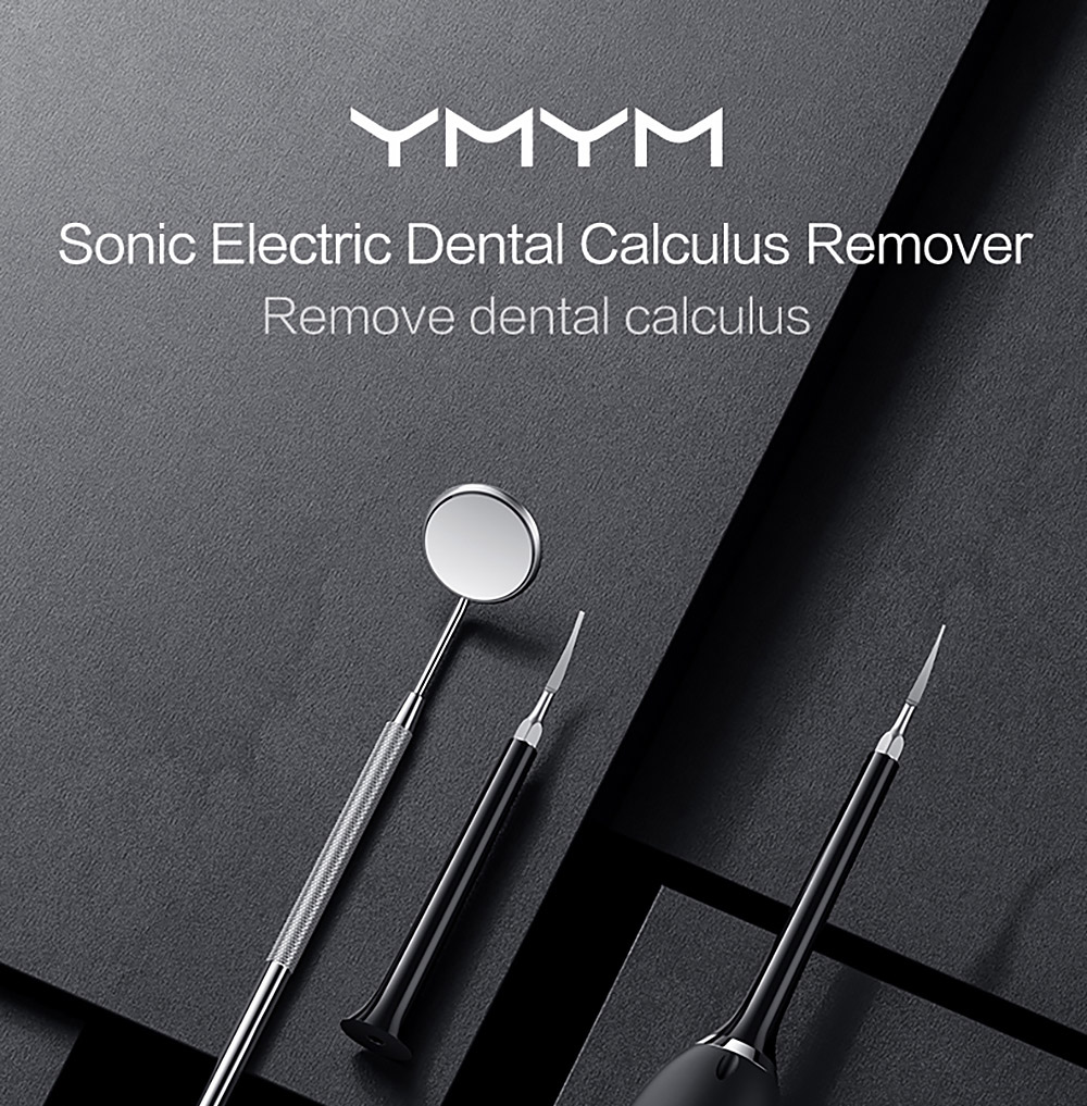 YMYM YC1 Sonic Vibrating Tooth Cleaner Electric Dental Calculus and Tartar Remover from Xiaomi Youpin - Black