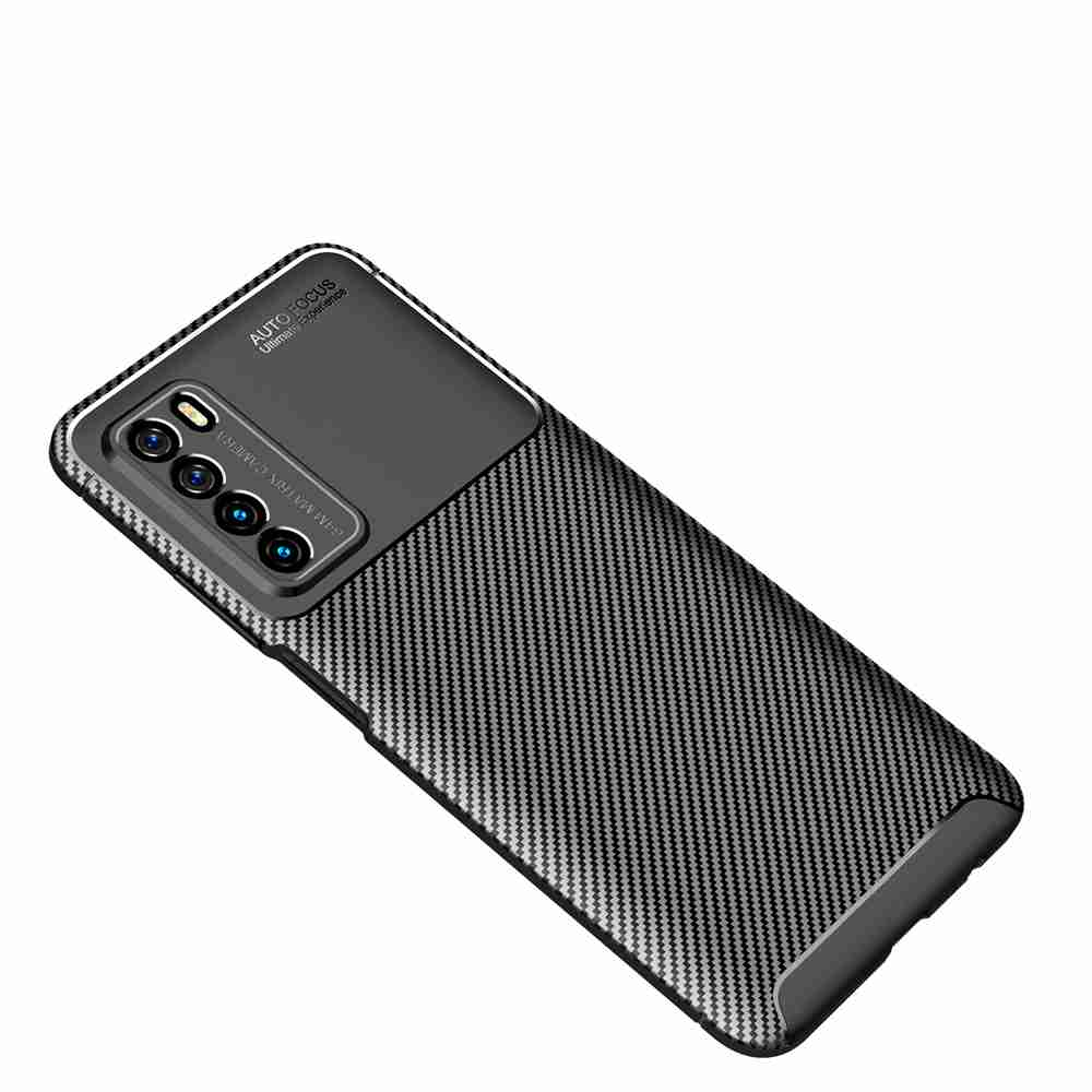 Beetle Carbon Fiber Phone Case for Huawei Play 4 - Black