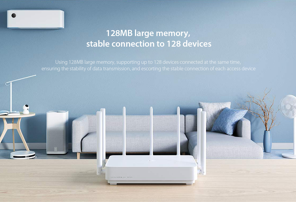 Xiaomi AC2350 Mi Alot Router 128MB large memory, stable connection to 128 devices