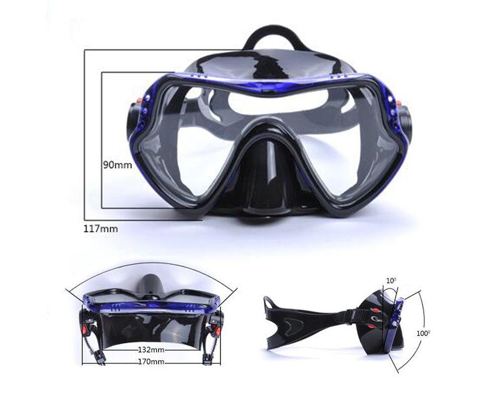 New Breathing Tube Snorkel Treasures Goggles Mask Snorkel Diving Suit All Dry Glasses - Black